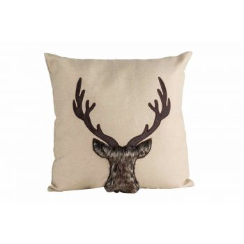 Cosy @ Home Kissen Deer Natural 45x10xh45cm Polyeste