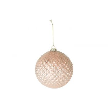 Cosy @ Home Weihnachtskugel Waffle Frost Glitter Pea