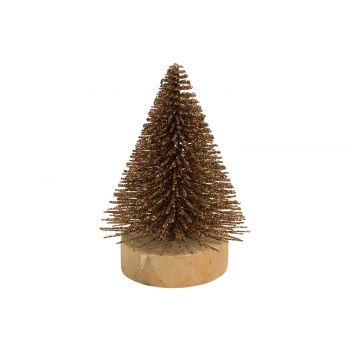 Cosy @ Home Weihnachtsbaum Glitter Kupfer 5,5x5,5xh8