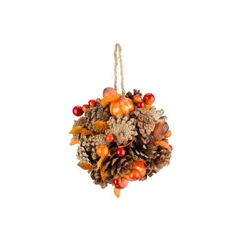 Cosy @ Home Indien Ball Pumpkins Orange D13cm Holz