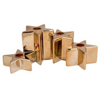 Cosy @ Home Leuchter 4 Stars Gold 24,5x14,5xh9,3cm K