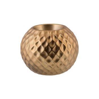Cosy @ Home Teelichthalter Diamond Pattern Messing 1