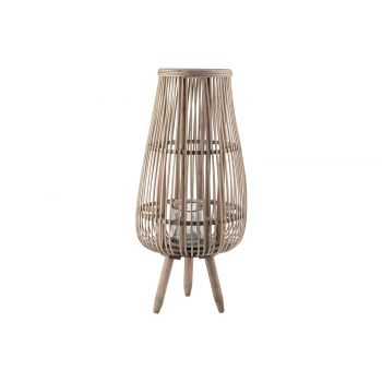 Cosy @ Home Laterne Alta Natural 28x28xh58cm Holz
