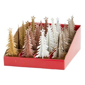 Cosy @ Home Weihnachtsbaum Set20 Glitter 4 Types 6x6xh1