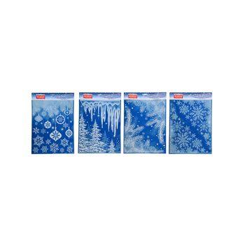 Goodmark Fenstersticker Static Xmas Glitter 4 Types