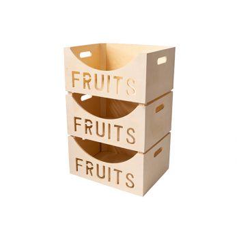 Cosy & Trendy Fruchtkasten 39,5x30xh19,5cm