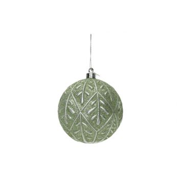 Cosy @ Home Weihnachtskugel Silver Leaves Mint D10cm