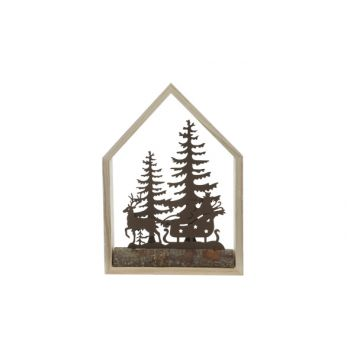 Cosy @ Home Weihnachtshaus Natural 15x4xh21cm Holz