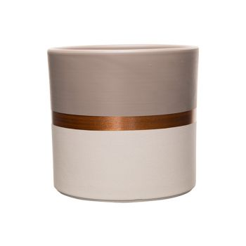Cosy @ Home Blumentopf Duo Color Taupe-white Copper