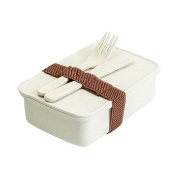 Cosy & Trendy Eco-fibre Lunchbox Fork Knife Weiss