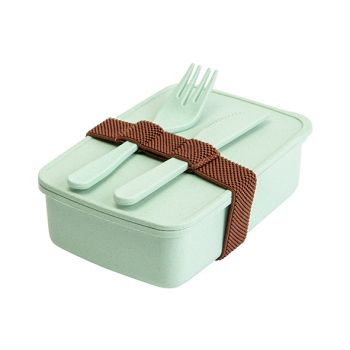 Cosy & Trendy Eco-fibre Lunchbox Fork Knife Green