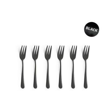 Amefa Retail Vintage Set 6 Cake Forks Black