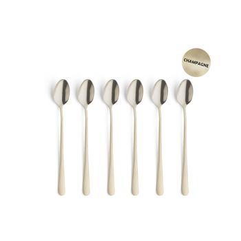 Amefa Retail Vintage Set 6 Iced Tea Spoons  Champagne