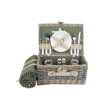 Cosy & Trendy Picknickkorb Oval 2pers.  Besteck