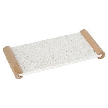 Cosy & Trendy Terrazzo Tray Handles In Wood 31.5x15cm