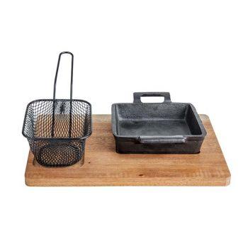 Cosy & Trendy Mahogany Tray (27x20xh1) Fry Basket
