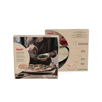 Bisetti Pizza And Pancake Set 7-pcs In Wood