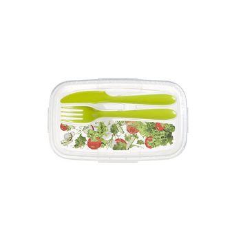 Hega Hogar Paris Deco Salade Lunchbox W. Cutlery