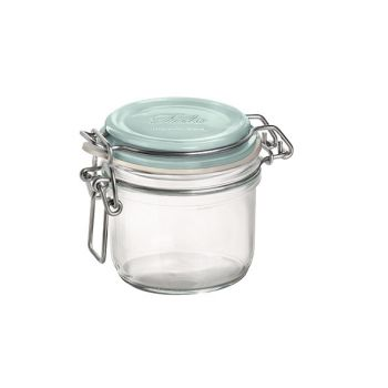 Bormioli Fido Jar 25.5 Cl Blue Cover