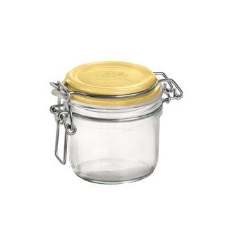 Bormioli Fido Glastopf 25.5 Cl Yellow Cover
