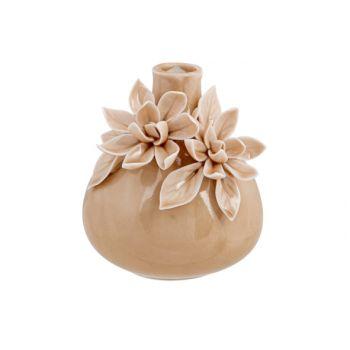 Cosy @ Home Vase Flowers Rosa 9x9xh10cm Keramik