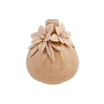 Cosy @ Home Vase Flowers Rosa 11x11xh13,5cm Keramik