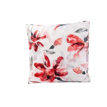 Cosy @ Home Kissen Pink Flowers Weiss 45x45xh10cm Po