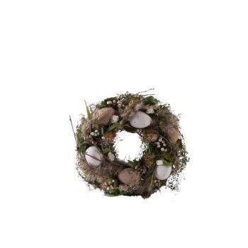 Cosy @ Home Kranz Decorated Grun 25x25xh7cm Holz