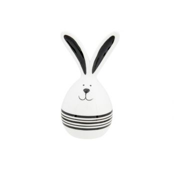 Cosy @ Home Ei Rabbit Ears Black Declined Weiss 6,5x