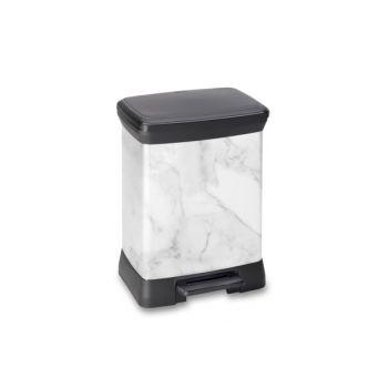 Curver Pedaleimer Decobin Marble 30l