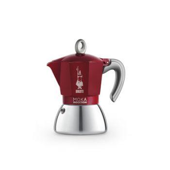 Bialetti New Moka Inductionkaffeekocher Rot 6t