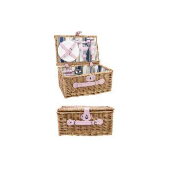 Cosy & Trendy Willow Picnic Basket 2p Brown 38x26x18cm