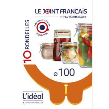 Le Joint Francais Ideal Einmachring 100 Set10 Rot 11x5,6cm