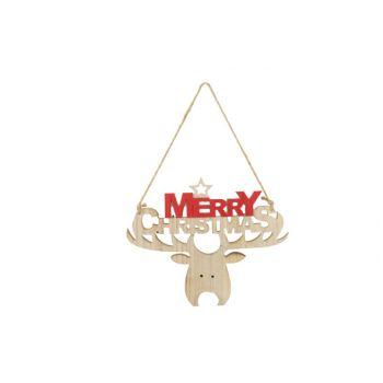 Cosy @ Home Hanger Merry Christmas  Rot 29x1xh24cm H