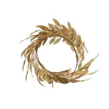 Cosy @ Home Girlande Leaves Metallic Glitter Gold 10