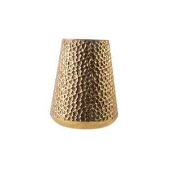 Cosy @ Home Windlicht Hammered Gold 25x25xh31,5cm Me