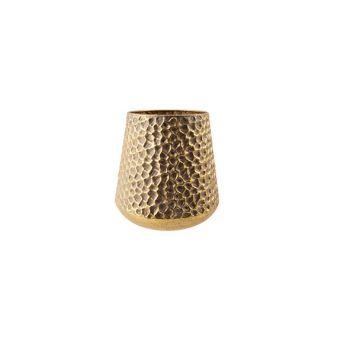 Cosy @ Home Windlicht Hammered Gold 22x22xh23cm Meta