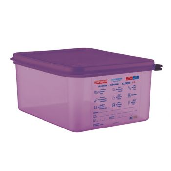 Araven Food Cont Airtight Gn 1-2purper 10l