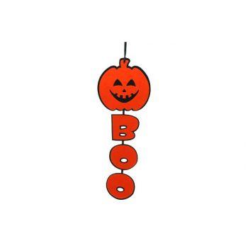 Cosy @ Home Kurbis+boo 60cm Schwarz&orange Filz