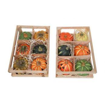 Cosy @ Home Deko Kurbis 6st 2 Types Keramik