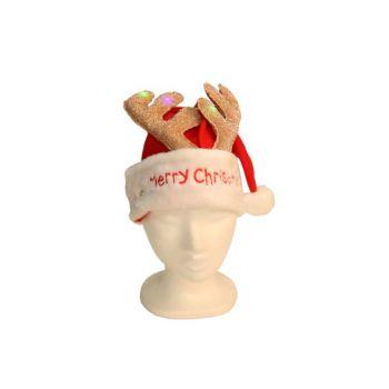 Cosy @ Home Weihnachtshut Beleuchte Hirsch Geweih