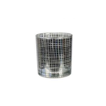 Cosy & Trendy Silver Tealightholder Glass 7,5x8cm