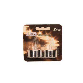 Cosy & Trendy Teeleucht Led Batt. Silber 2st/karte