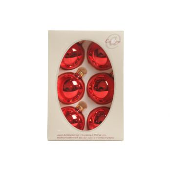 Cosy @ Home Xmas Ball Glass 67mm Glossy Red 67mm