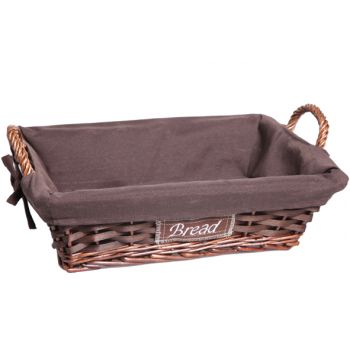 Cosy & Trendy Basket Willow Brown Rect. W. Fabric
