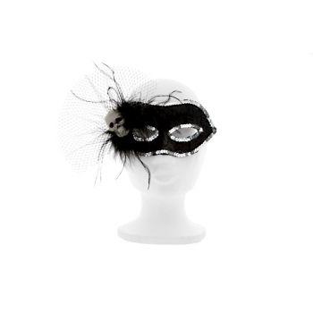 Cosy @ Home Maske Mit Totenkopf Schwarz&silber