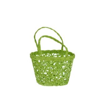 Cosy @ Home Easter Basket 14x10x10cm Green