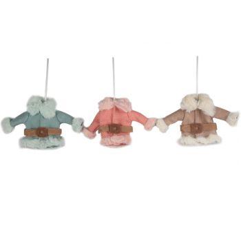 Cosy @ Home Textil Jacke Mit Gurtel 3 Types Pink-grun-