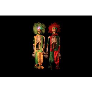 Cosy @ Home Skelett Clown Rot Grun Led 2 Types 75cm