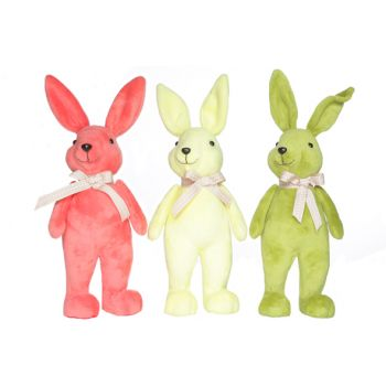 Cosy @ Home Osterhase Stehend 15x15x40cm 3 Types Farben